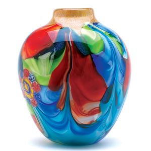 Picture of Floral Fantasia Art Glass Vase