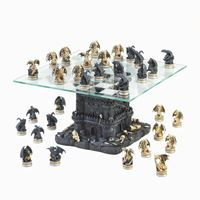 Picture of Black Tower Dragon Chess Set