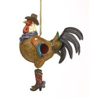 Picture of Cowboy Rooster Birdhouse