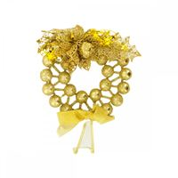 Picture of 6in Christmas Glitter Ball Wreath Hanging Decoration