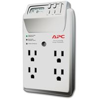 Picture of Apc 4outlet Energysaving Surge Protector Wall Tap With Lcd Timer