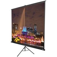 "Picture of Elite Screens Tripod Series Projection Screen 11 Format 136"" 96"" X 96"""