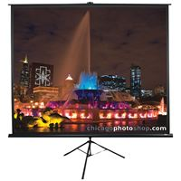 "Picture of Elite Screens Tripod Series Projection Screen 11 Format 71"" 50"" X 50"""