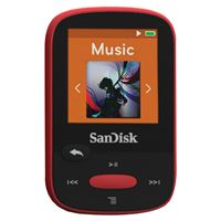 "Picture of Sandisk 4gb 1.44"" Clip Sport Mp3 Players Red"