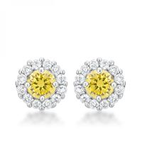 Picture of Bella Bridal Earrings In Yellow