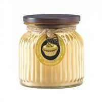 Picture of Butter Cream Ribbed Jar Candle