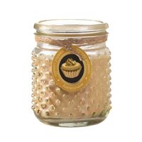 Picture of Butter Cream Hobnail Jar Candle