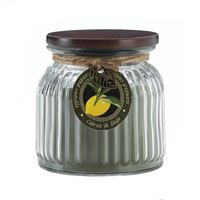 Picture of Citrus  Sage Ribbed Jar Candle