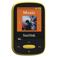 "Picture of Sandisk 4gb 1.44"" Clip Sport Mp3 Players Yellow"